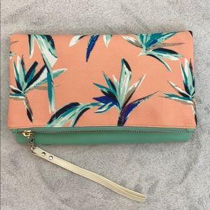 RACHEL PALLY clutch pink zip fold over bag
